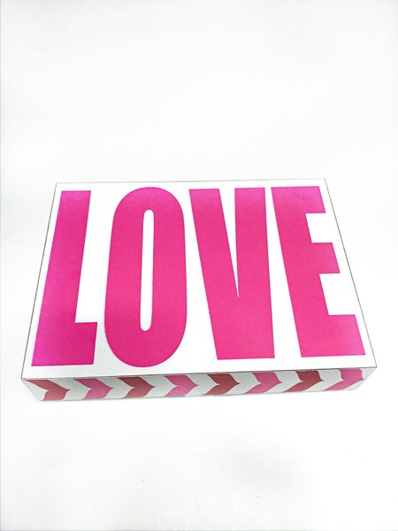 Love Square Wood Sign