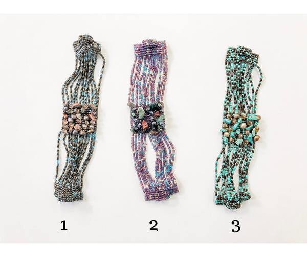 Gem Cluster Bracelet with Magnetic Closure