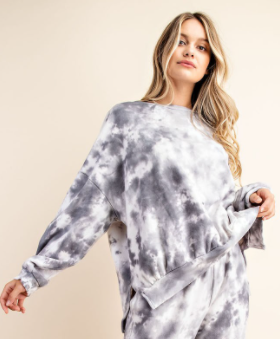 FSL Long Sleeve French Terry Tie Dye Top