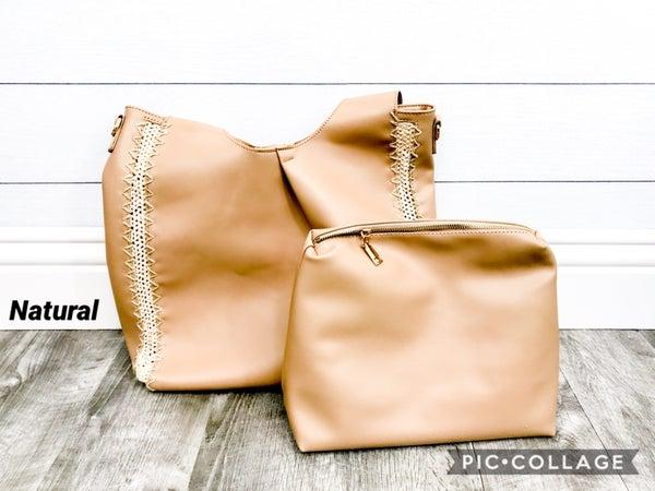 2-in-1 Woven Side Bag