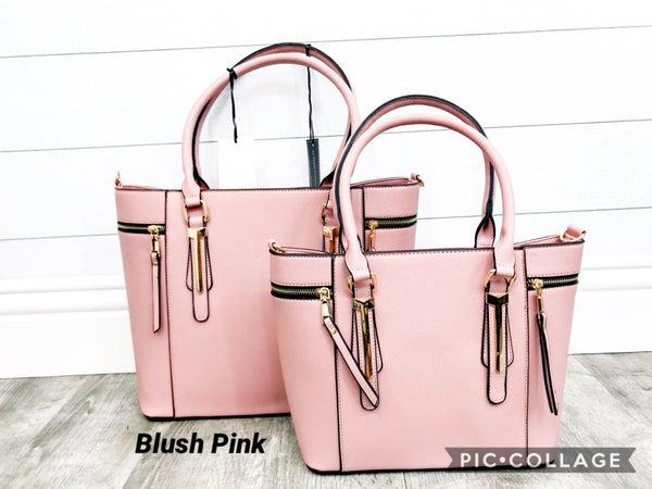2-in-1 Textured Handbag