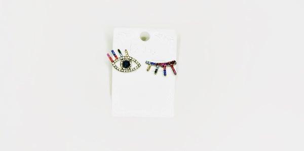 Eye Lash Earrings Set of 2