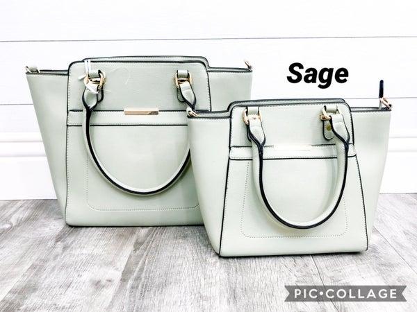 2-in-1 Gold Bar Handbag Set
