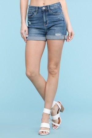 Judy Blue Cuffed High Rise Shorts