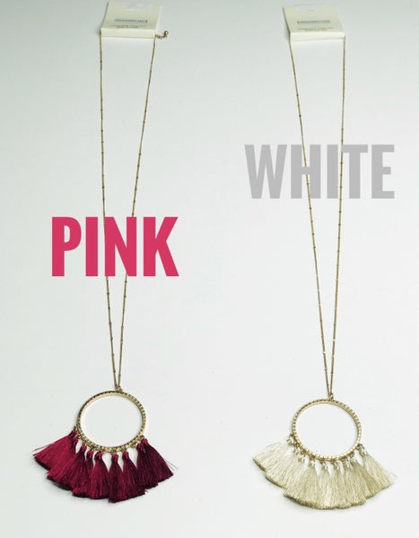 Long Necklace With Tassel Fringe On The Bottom