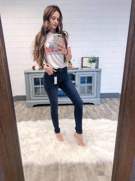 Judy Blue Dark Wash Skinny Jeans