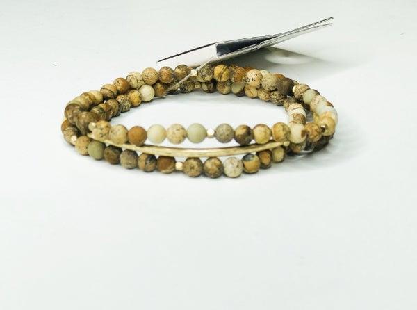 Mini Stone Bead Bracelet Set