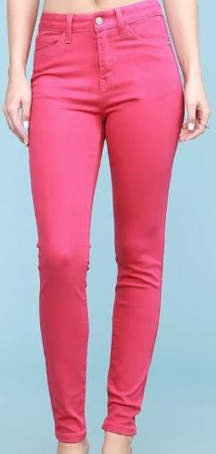 Judy Blue Fuchsia High Waisted Skinny Jeans