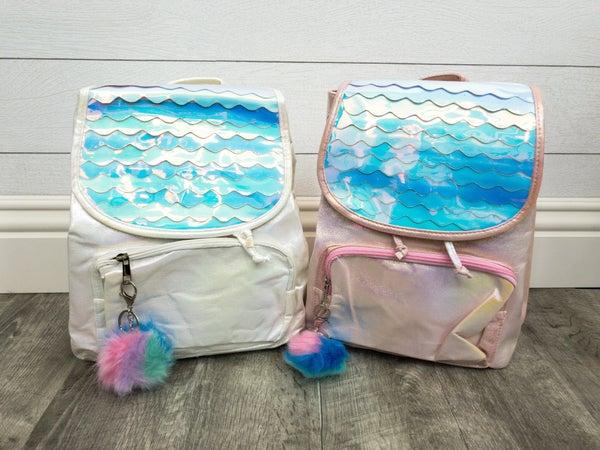 Chrome Wave Shimmer Backpack