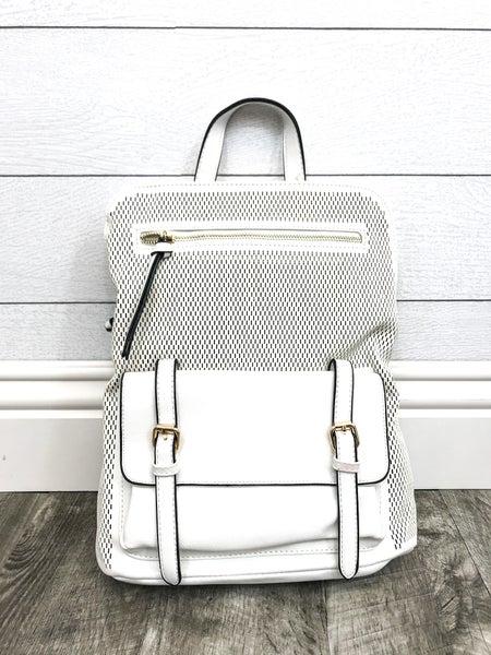 Detailed Pocket Backpack