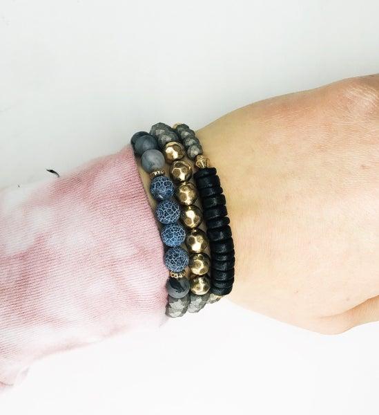 Blue And Grey Stone Bracelet