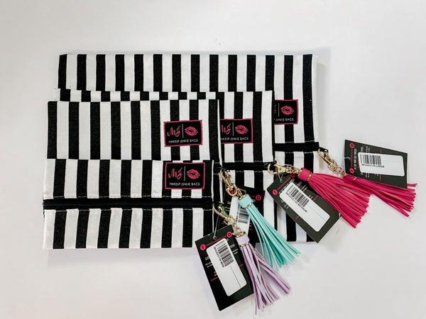 Makeup Junkie Bag Glam Stripes