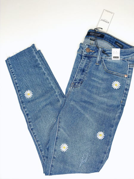 Judy Blue Daisy Embroidered Jeans