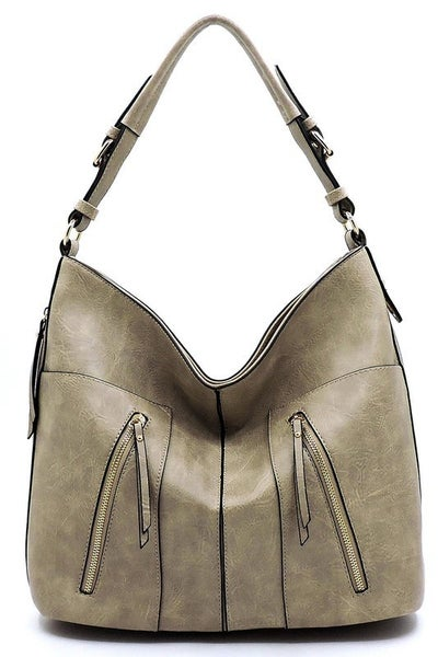 Fashion Zipper Shoulder Bag