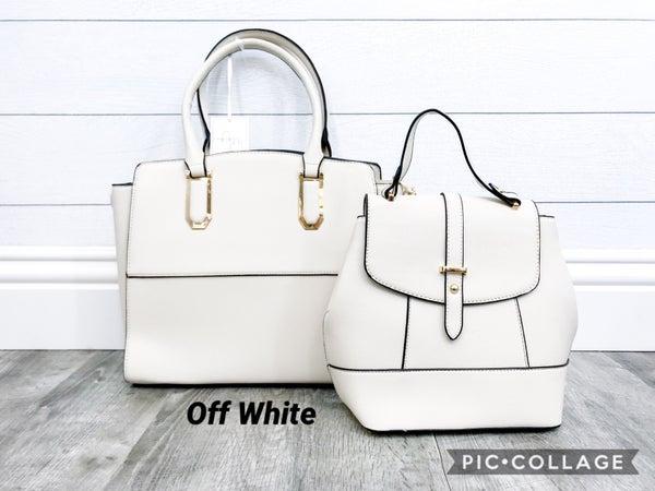 2-in-1  Gold Zipper Handbag