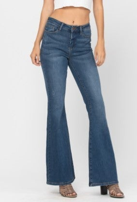Peace Out Judy Blue Flare Jeans