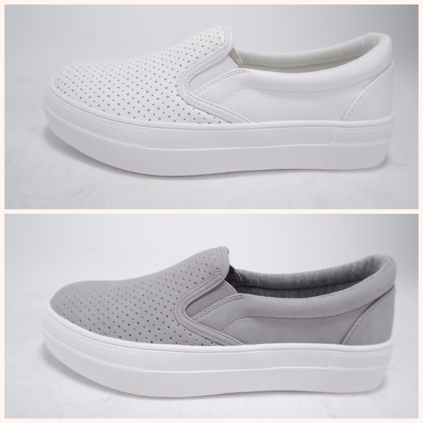 Comfy Pinhole Slip on Sneakers (2 colors)