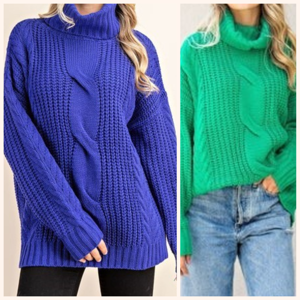 Bundle Up Turtle Neck Sweater