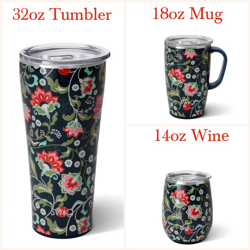 Lotus Bloom -  14oz Wine, 18oz Mug, 32oz Tumbler