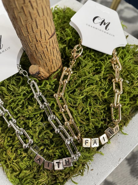 Faith Bracelet Silver/Gold