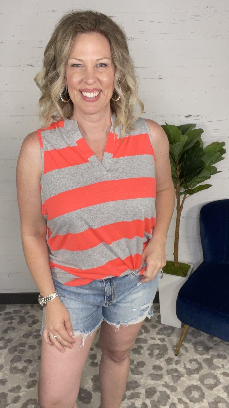 Classic Bold Stripes Sleeveless Gabby (2 colors)