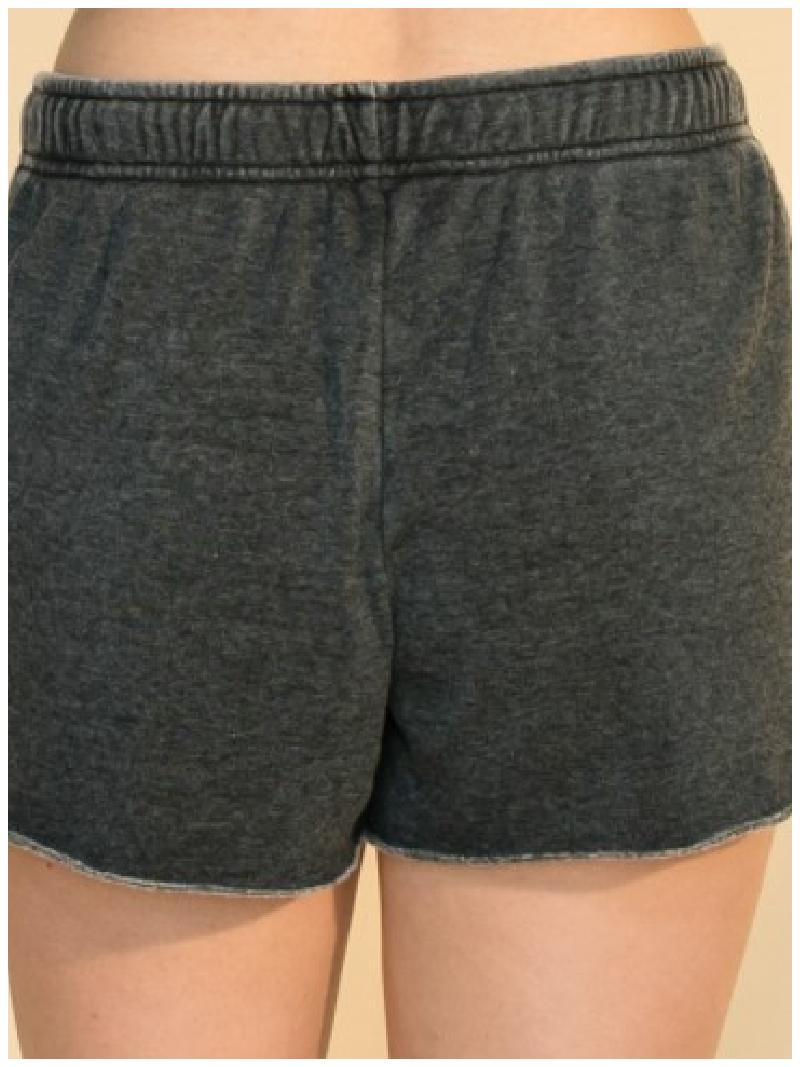 Burnout Fleece Drawstring Shorts