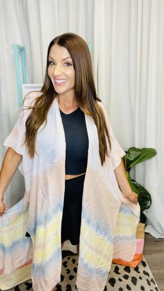 Color Wash Kimono