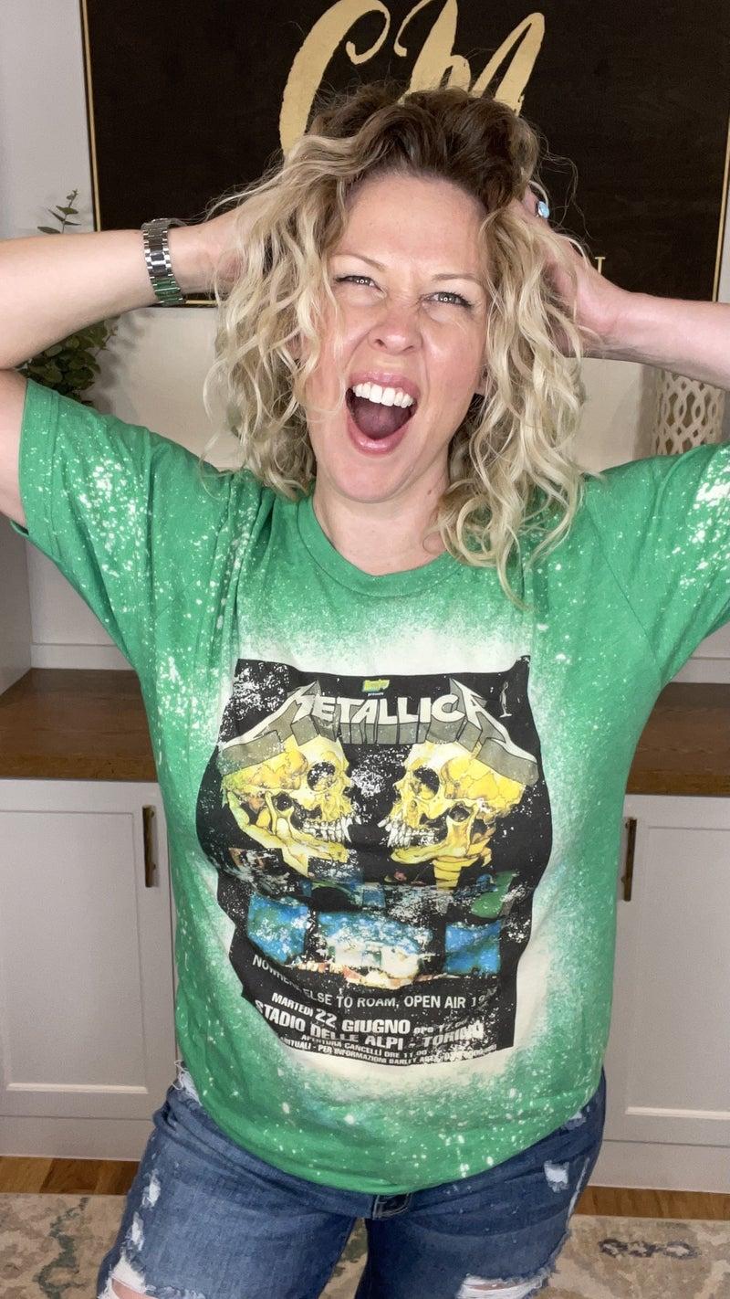 Metallica Bleach Splattered Tee