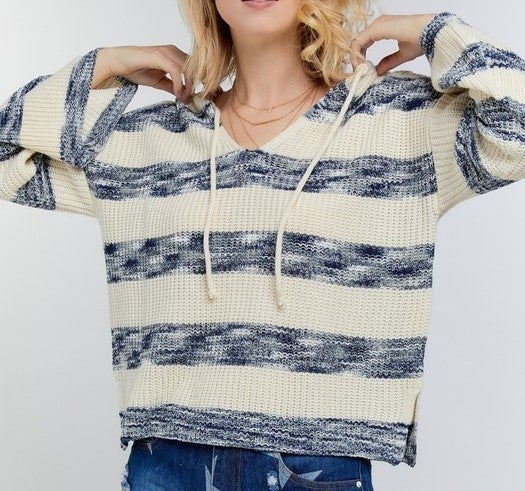 Peacefully Yours Knit Striped Sweater