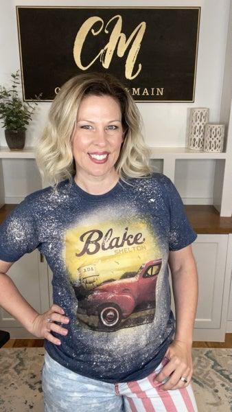 Blake Shelton Bleach Splattered Tee