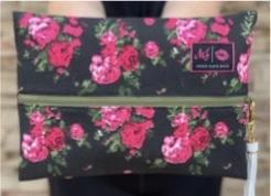 Makeup Junkie Rose Floral Makeup Bag