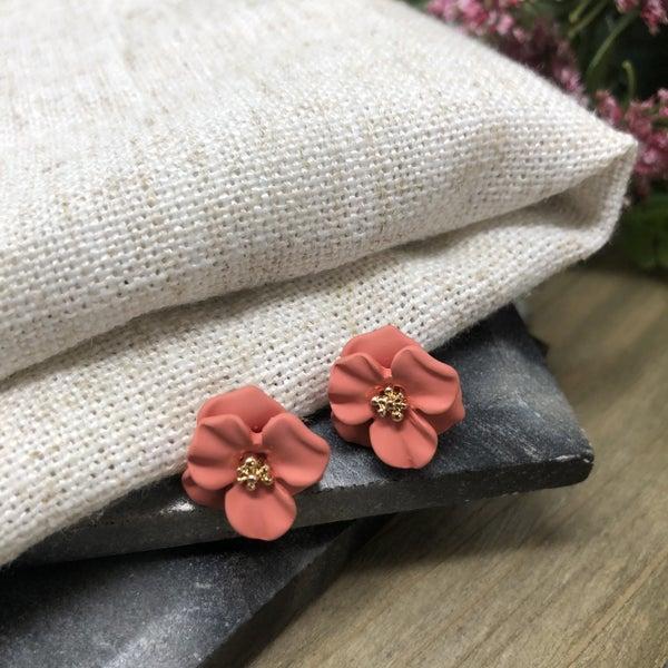 Flower Post Stud Earrings