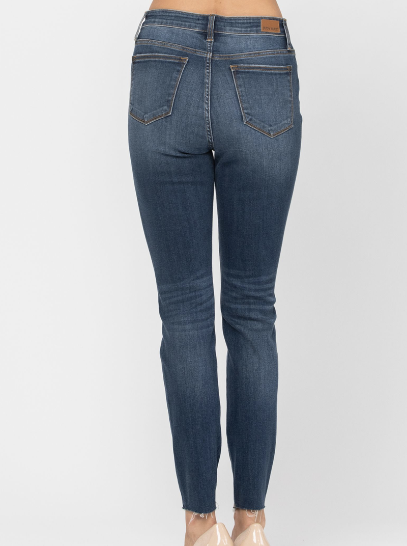 Catted in the DNA Judy Blue Leopard Patch Jeans