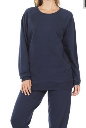 French Terry Pull Over with Pants SET
