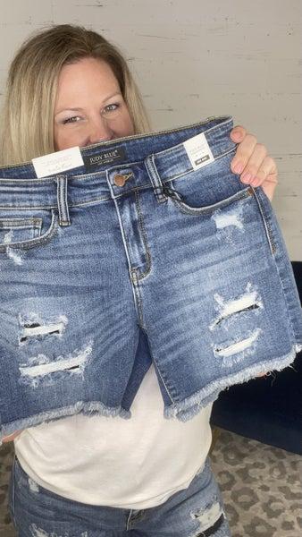 Hot Summer Nights Judy Blue Cut-Off Shorts