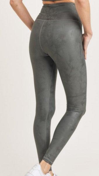 Overlay Metallic Foil Print Highwaist Leggings