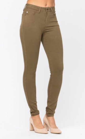 Risky Business Judy Blue Jeans - Olive
