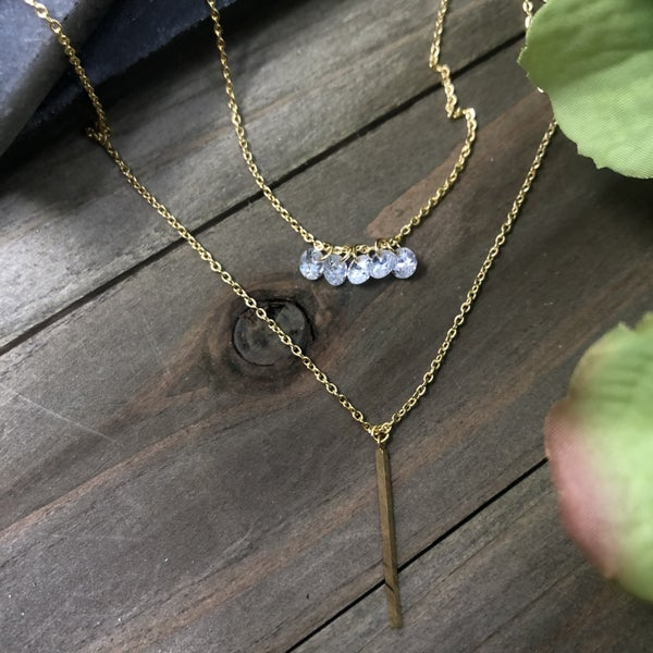 Double Your Fun Necklace w/ Bar