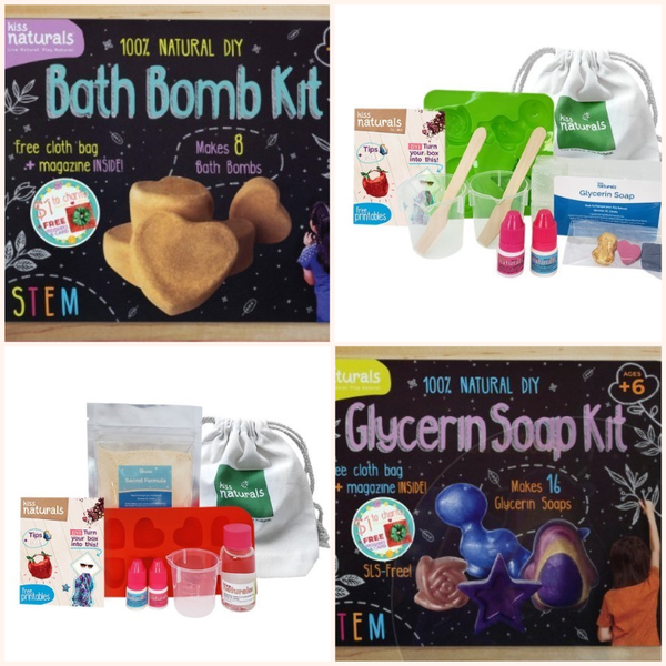 DIY Kids Bath Bomb & Soap Craft Kit