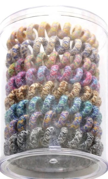 Woven Coil Hair Ties - 8 Pieces