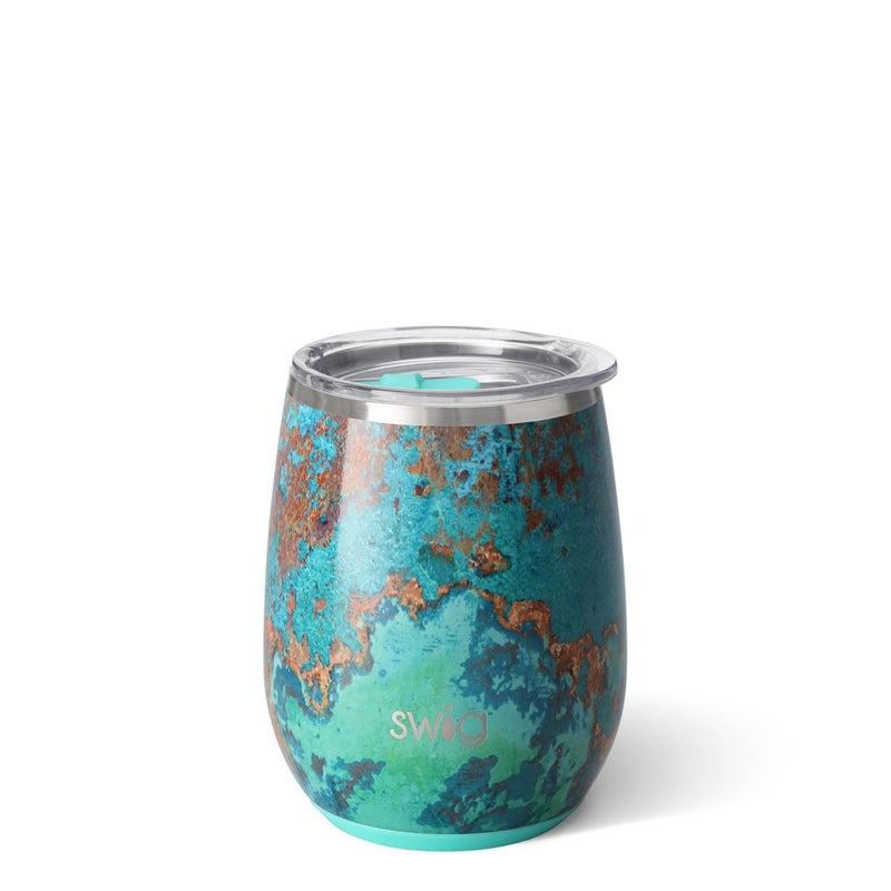 Copper Patina Swig Cup - 14oz Wine Glass, 18oz Mug,  22oz Cup, or 32oz Tumbler