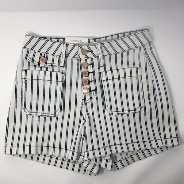 Judy Blue Pinstripe Patch Pocket Shorts
