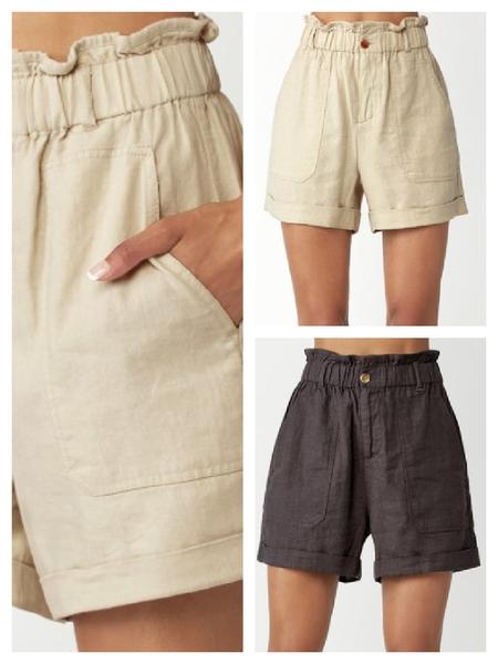 Paper Bag Linen Shorts