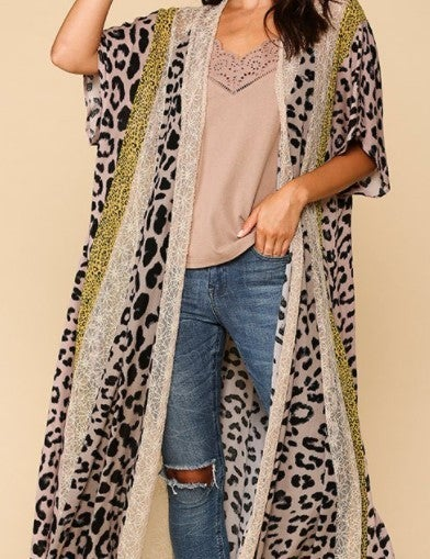 Lace Maxi Kimono