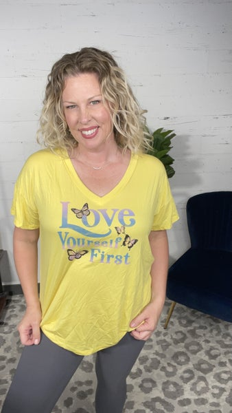 Love Yourself First Graphic Tee