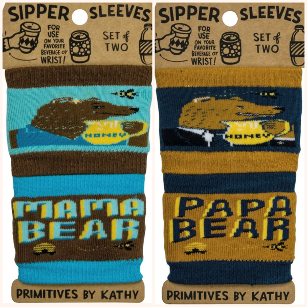 Sipper Sleeves Mama/Papa Bear