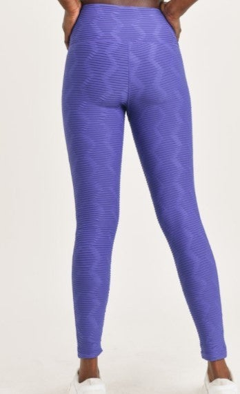 Leggings - Textured Sectional Ribbed Jacquard TACTEL Highwaist
