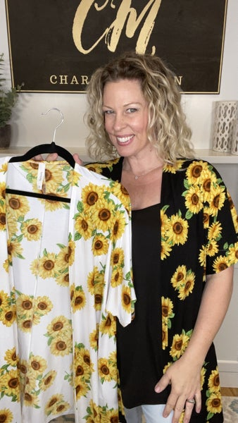 Summer Blooms Sunflower Cardigan