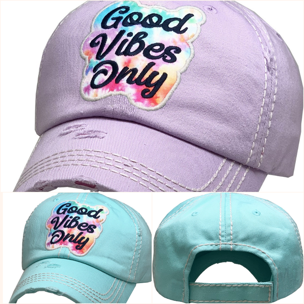 Good Vibes Only Vintage Ballcap