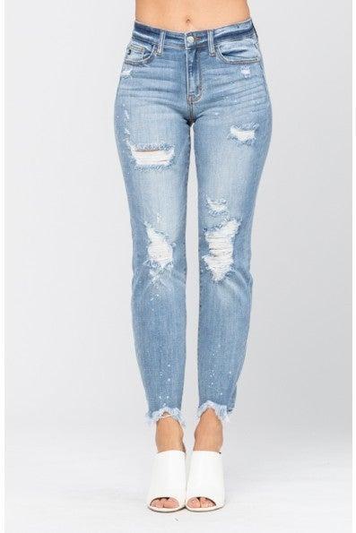 Fooling Around Judy Blue Boyfriend Jeans